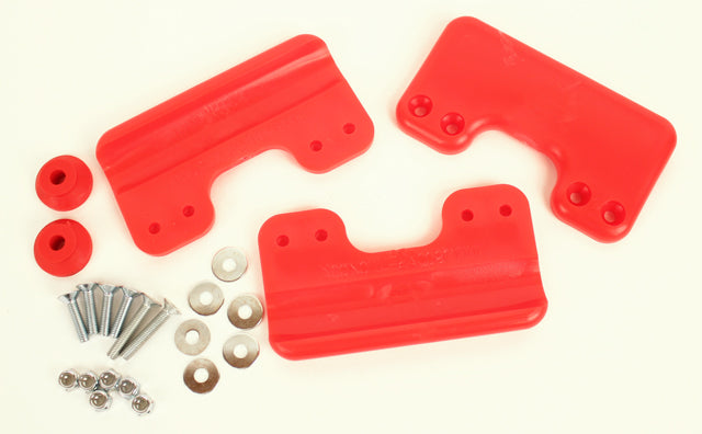 Chassis Skid Plate Protectors (Red)