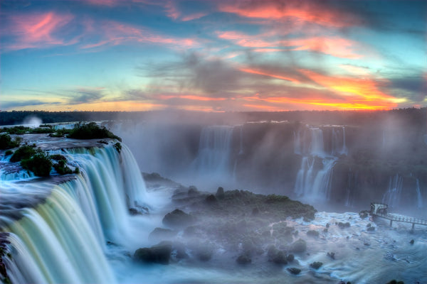 Awe inspiring beauty of Iguazu Falls - 1 of the 7 Natural Wonders on Earth