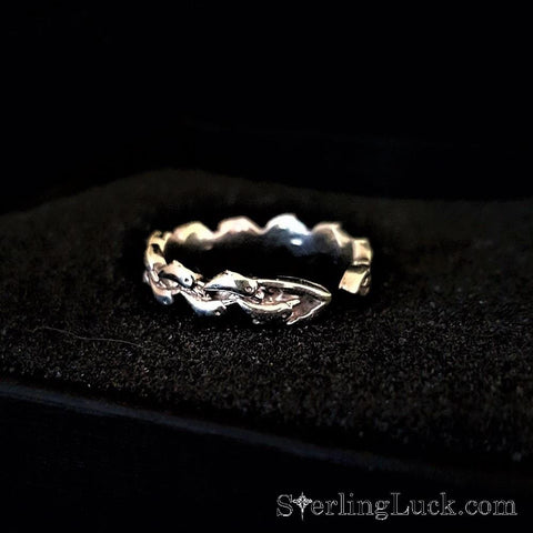 Joyful Dolphins Wave Ring - Adjustable