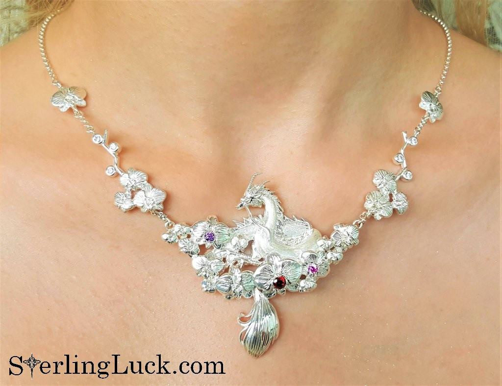 Exquisite Dragon Bridal Necklace