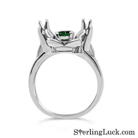 Playful Dolphins Solitaire Ring