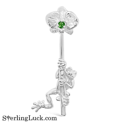Froggy Flower Brolly Earring (One Side Only)