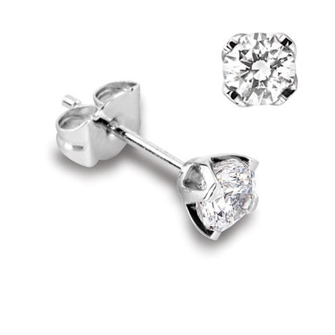 Lotus Diamond Studs
