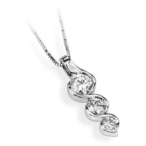 Triple Diamond Wave Pendant