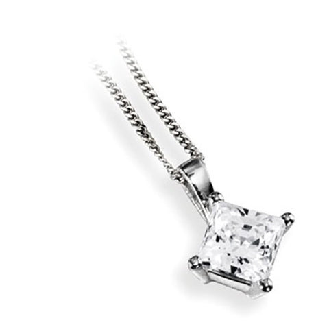 Four Claw Princess Solitaire Pendant