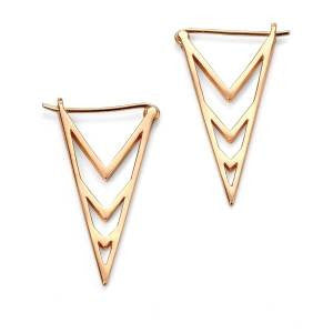 Rose Triangle Earrings