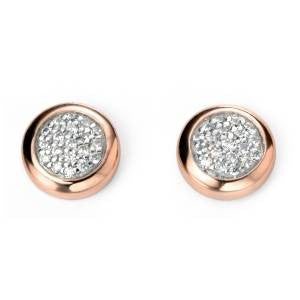 Rose Button Studs