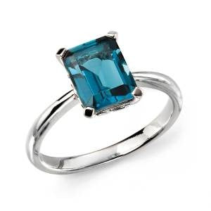 London Blue Topaz Solitaire Ring