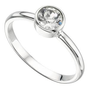 Clear Swarovski Ring
