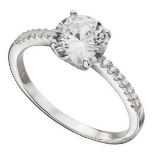 Pavé Solitaire Ring
