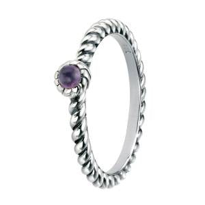 Amethyst Twist Ring