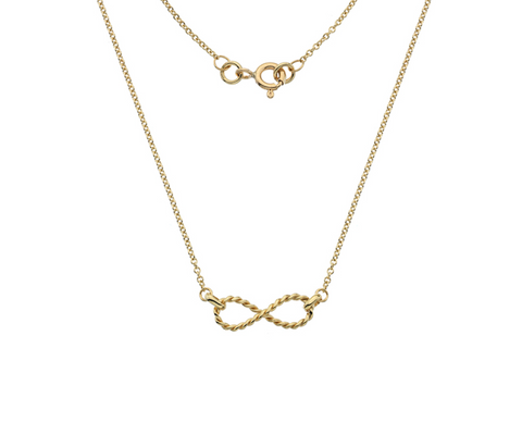 Gold Twisted Infinity Necklace