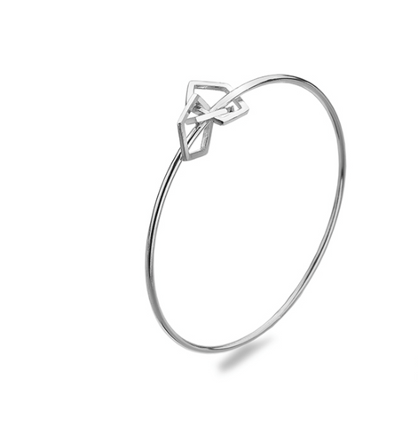 Intertwined Pentagon Bangle