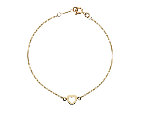 Gold Open Heart Bracelet