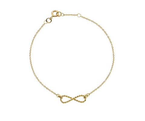 Gold Twisted Infinity Bracelet