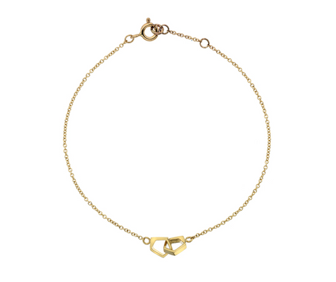 Double Gold Pentagon Bracelet
