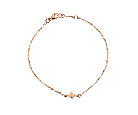 Rose Gold Raw Diamond Bracelet