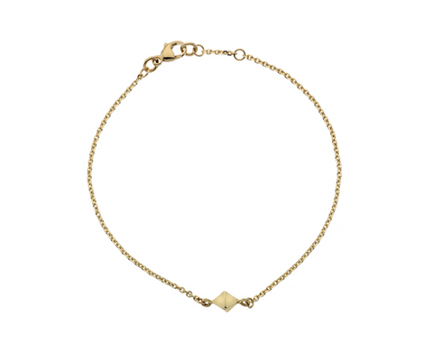 Gold Raw Diamond Bracelet