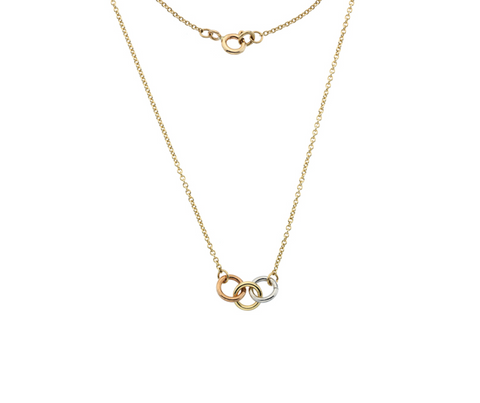 Three Gold Hoop Necklace