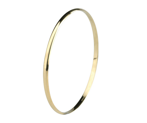 Gold D Shape Bangle