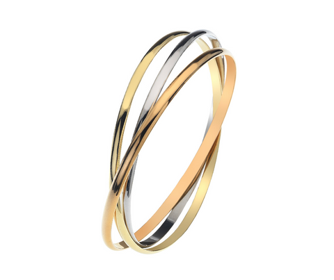 Three Gold Russian Bangle