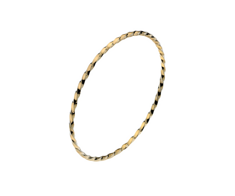 Gold Twisted Bangle