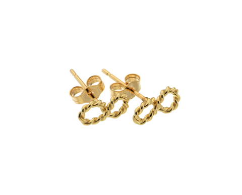 Gold Twisted Infinity Studs