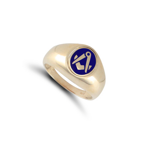 Mens Masonic Swivel Ring