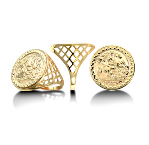 Gold Full St George Ring
