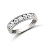 Channel CZ Eternity Ring