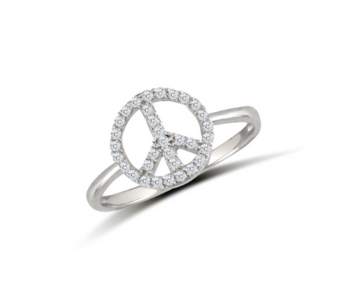 Peace CZ Ring