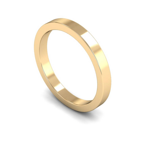 2.5mm 9ct Gold Flat Band