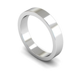 4mm 9ct Gold Flat Band