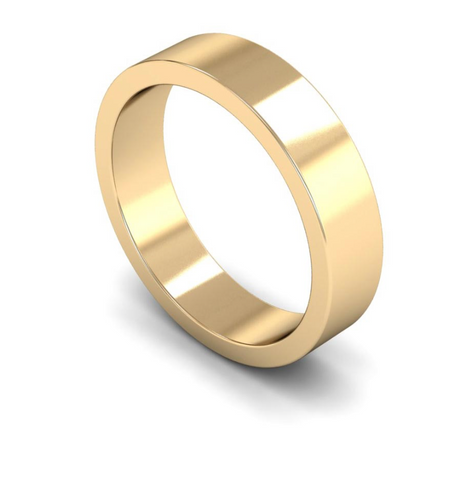 5mm 9ct Gold Flat Band