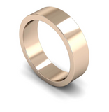 6mm 18ct Gold Flat Band