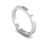 2.5mm 18ct Gold Flat Band