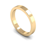 3mm 18ct Gold Flat Band