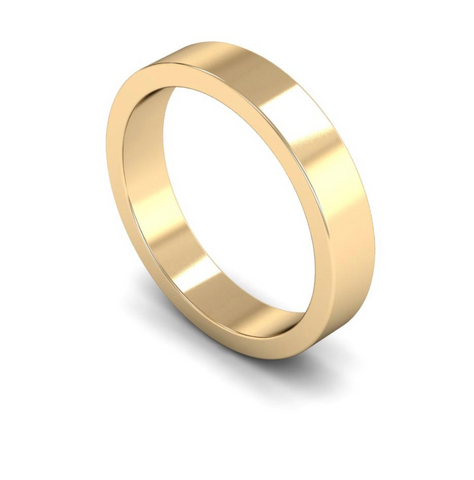 4mm 18ct Gold Flat Band