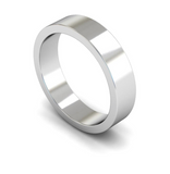5mm 18ct Gold Flat Band