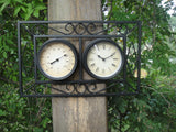 Outdoor Wall Mounted Clock & Thermometer
