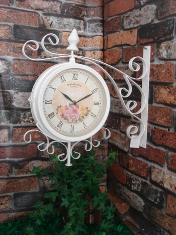 Garden Metal Wall Clock