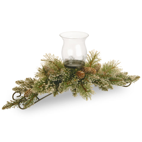"Sparkling Pine 30"" Single Candle Centrepiece"
