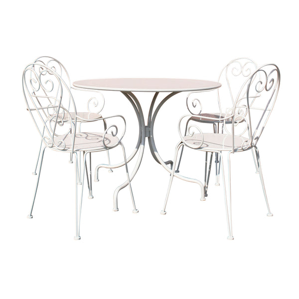 Steel Heart 5 Piece Dining Set