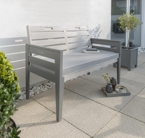Grigio Two Seat Bench Set