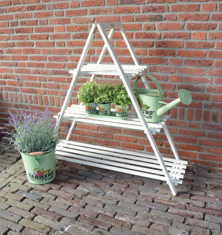 Triangle Plant Ladder (Cream) FSC 100%