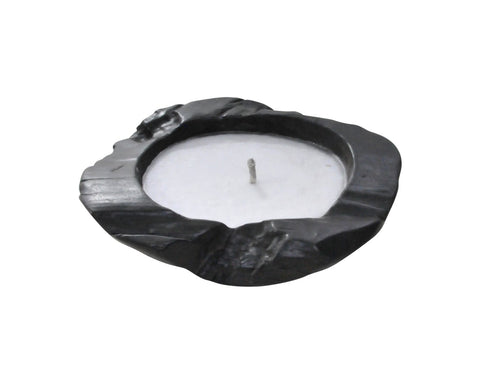 Outdoor Teak Bowl Candle (medium)