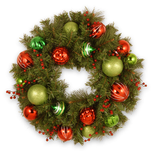 Decorative Collection Artificial Wreath with Ornaments