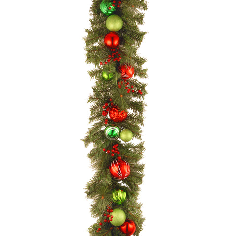 Decorative Collection Garland with Ornaments