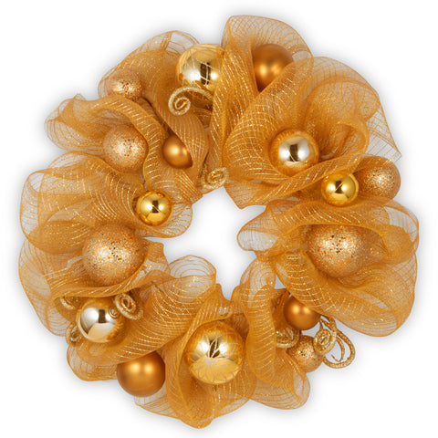 Decorative Collection Gold Ribbon Wreath