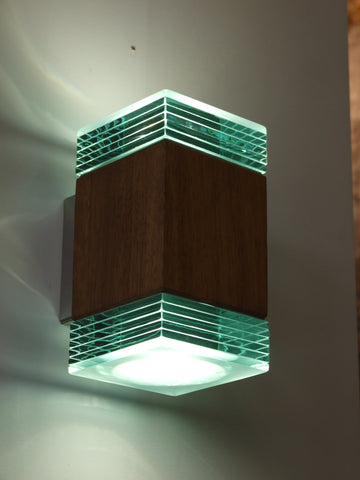 Hardwood & Glass Up/Down Light